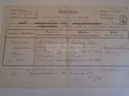 D172626 Old Document - Austria WIEN - Gumperdorf Pfarre St. Aegyd 1874 - Carolina ATZGER - Böck- Jacklin- Schubert - Nacimiento & Bautizo