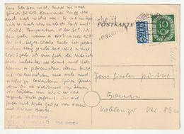 Bund Michel 1951 Nr. 128 EF + Notopfer Berlin, Postkarte Freiburg 31.8.51 Nach Bonn, Siehe 3 Scans - [7] Federal Republic