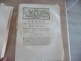 Arrêt Du Conseil Du Roi 27/09/1782 Insinuation Des Lettres De Répit ... - Decrees & Laws