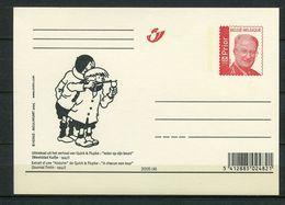 2005 - Gele Briefkaart Albert II Rood Prior - Strips - Comics - QUICK & FLUPKE  Ex Journal Kuifje Tintin 1947 - Stamped Stationery