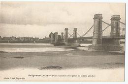 CPA [45] Loiret > Sully Sur Loire - Le Pont Suspendu - Sully Sur Loire