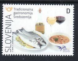 3333 Slovenia 2020 MNH Gastronomy Fish Euromed France Malta Monaco Portugal Spain Turkey Tunisia Egypt Israel Egypt - Slovenia