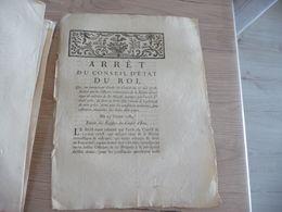 Arrêt Du Conseil Du Roi 25/02/1784 Droit Du Franc Fief - Decrees & Laws