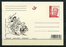 2004 - Gele Briefkaart Albert II Rood Prior - Strips - Comics - PIRREWIET   PIRLOUIT   PEYO - Stamped Stationery