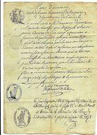 Ardèche 07 ANNONAY Rare Tampon De La Mairie Sous L'empire Du 4 Thermidor An 12 Document Manuscrit - Cachets Généralité