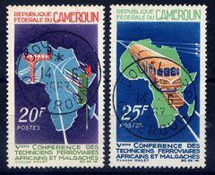 CAMEROUN - 434/435° - CONFÉRENCE DES TECHNICIENS FERROVIAIRES - Camerún (1960-...)