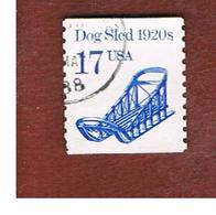 STATI UNITI (U.S.A.) - SG 2171 - 1986 TRANSPORTS: DOG SLED   - USED - Usati