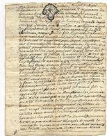 Rhône 69 JARNIOUX Acte Notaire Royal Du 22:01:1775 Brevet D'apprentissage 4 Pages - Cachets Généralité