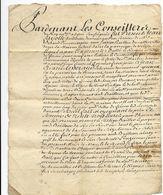 Rhône 69 LYON Lettre Des Conseillers Du Roi Du 30 Mai 1733 Bail D'une Ferme Située à Limonay - Cachets Généralité