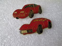 PIN'S   Lot 2 CORVETTE   2 Versions - Corvette