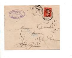 SEMEUSE SUR LETTRE DE FONTENAY LE COMTE VENDEE 1910 - 1877-1920: Période Semi Moderne