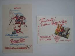 Buvards Chocolat Café Des Gourmets Buffalo Bill Images - Vloeipapier