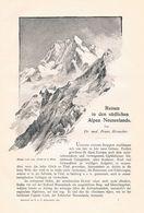 595-2 Kronecker Compton Reisen In Neuseeland Artikel Von 1897 !! - Libros, Revistas, Cómics