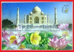 106.PITCAIRN ISLANDS  2011 STAMP M/S TAJMAHAL, LOTUS, INDEPEX 2011. MNH - Stamps