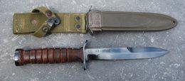 Poignard - Couteau De Combat Américain USM3 KINFOLKS - 40/45 - Armes Blanches