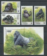 265 - CONGO 2002 - Yvert 1539/42 BF 69 - WWF Singe - Neuf ** (MNH) Sans Trace De Charniere - Neufs