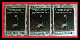 106.BANGLADESH SET/3 STAMP IN MEMORY OF MARTYRS OF THE LIBERATION WAR. MNH - Stamps