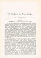 596 Zwiedineck-Südenhorst Franzosenkrieg Die Feldzüge 1796-1801 Artikel Von 1897 !! - Politie En Leger