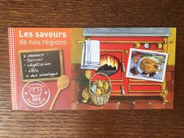 FRANCE 2010 CARNET LES SAVEURS DE NOS REGIONS 12 TIMBRES PRIORITAIRES - Booklets