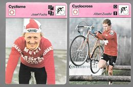 GF374 - CARTES EDITIONS RENCONTRE - ROLAND SALM - JOSEF FUCHS - ALBERT ZWEIFEL - OSCAR PLATTNER - Cyclisme
