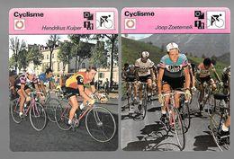 GF368 - FICHES EDITION RENCONTRE - WIM VAN EST - JOOP ZOETEMELK - HENDRIK KUIPER - Cyclisme