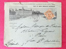Enveloppe Avec Cachet Gare De Dax Landes - Storia Postale