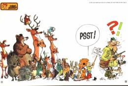 """MINI POSTER """" BOULE ET BILL  """" Supplement Au Spirou N° 1808  De  1972 - Spirou Magazine"""