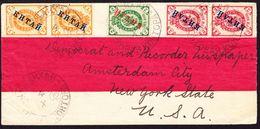 1902 Kleiner Mandarin Brief Mit 5 Russischen überdruckten Marken Gestempelt Shanghai über Yokohama Nach - China