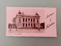 Souvenir D'Indochine  Hanoi Le Théatre Municipal Photo Carte - Viêt-Nam