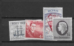 1957 MNH Ross Dependency Mi 1-4 Postfris** - Ungebraucht