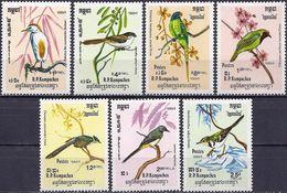 Kampuchea 1984 - Birds ( Mi 550/56 - YT 484/90 ) MNH** Complete Set - Kampuchea