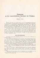 606-2 Ranke Vorgeschichtliche Bewohner Ostalpen Artikel Von 1899 !!                                           . - 1. Frühgeschichte & Altertum