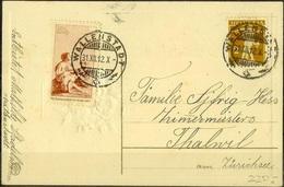 Schweiz Suisse 1912: Vorläufer Précurseur Zu+Mi I Auf Bild-PK CPI Mit O WALLENSTADT 31.XII.12 (Zumstein CHF 350.00 ) - Pro Juventute