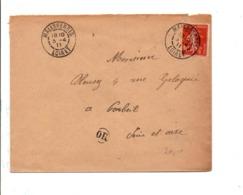 SEMEUSE SUR LETTRE DE MALESHERBES LOIRET 1911 - Postmark Collection (Covers)