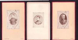 3 CDV Photographes NANCY   : 3 Portraits De Militaires 26 ème  Régiment D'infanterie De Ligne Vintage Albumen - Ancianas (antes De 1900)