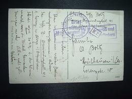 CP DER KRIEG IM OSTEN OBL. Brief-stempel ARMIERUNGS BATAILLON N°41   1. KOMP + CENSURE MULHAUSEN - Storia Postale