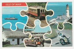 RU Isle Of MAN En 6 Vues Bateau Phare Moto Train Electrique Cheval VOIR TIMBRE En 1982 - Isle Of Man