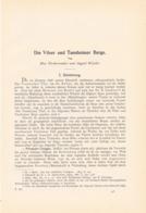 613 Förderreuther / Vilser Tannheimer Berge Artikel Mit 3 Kunstblätter 1899 !! - Boeken, Tijdschriften, Stripverhalen