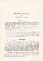 615 Rosenthal Lienzer Dolomiten Gailtaler Alpen Artikel Von 1899 !! - Boeken, Tijdschriften, Stripverhalen