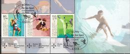 2020 Allem. Fed. Deutschland Germany Mi  Heftchen Blatt ( 3542-4 ) FD-used Bonn  Neue Olympische Sportarten. - BRD