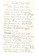 Lettre Manuscrite 1978 Simone Pierre Toret Malakoff Abée Michel Cathedrale Annecy Lautrez Jouy Royan Villaz Beclere - Manuscrits