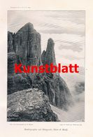 617 Karl Bindel Sellagruppe Dolomiten Artikel Mit Kunstblätter 1899/1900 !! - Boeken, Tijdschriften, Stripverhalen