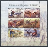 265 - POLOGNE 2000 - Yvert 3586/91 En Feuille - Faune Prehistorique Dinosaure - Neuf ** (MNH) Sans Trace De Charniere - Nuovi