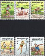 Kampuchea 1984 - Mi 568/73 - YT 442/47 ( Los Angelès Olympics ) - Kampuchea