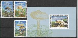 1984 SAINT THOMAS ET PRINCE 822-24+ BF 43** Champignons - Sao Tome And Principe