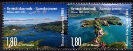 Bosnia & Herzegovina - Mostar - 2020 - World Water Day - Ramsko Lake - Mint Stamp Set - Bosnie-Herzegovine