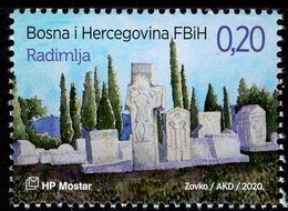 Bosnia & Herzegovina - Mostar - 2020 - Archaeological Heritage - Radimlja - Mint Stamp - Bosnie-Herzegovine