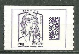 FRANCE MNH ** Adhésif Autocollant 1177 Marianne De Ciappa Et Kawena Marianne Datamatrix Et Jeunesse - Adhesive Stamps