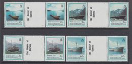 """South Georgia 1990 Shipwrecks 4v Gutter """"The House Of Questa""""  ** Mnh (48553) - Géorgie Du Sud"""