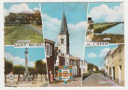 85 Saint St Michel En L'Herm 5 Vues De 1968 Rue Bergenneau Place Mairie Tabac Café Hôtel Pancarte Luçon 15 L'Aiguillon 6 - Saint Michel En L'Herm